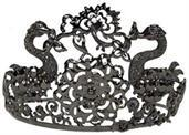 Black Jeweled Tiara Costume Crown