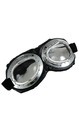 Aviator Goggle Silver and Black Adult Costume Accessory