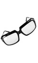 80's Scratcher Black Adult Costume Glasses