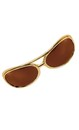 Rock and Roll King Gold/Brown Adult Costume Glasses