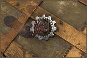 Steampunk Large Gear Propeller Pin Costume Jewelry Adult