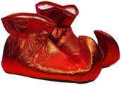 Christmas Elf Cloth Costume Shoes: Red