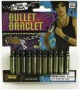 Punk Rock White and Gold Bullet Bracelet Costume Jewelry