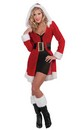 Sexy Mrs. Santa Claus Costume Shirt Coat