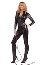 Sexy Feline Woman Black Bodysuit Adult Costume