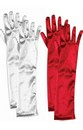 Long Red Adult Female Costume Satin Dress Gloves