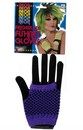 80's Punk Purple Fingerless Fishnet Costume Gloves