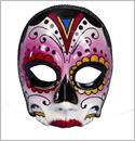 Day Of the Dead Multi Colored Female Costume Mask One Size