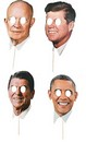 Presidents On Sticks Mask Kit Four Pack