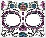 Day Of The Dead Face Tattoo Costume Accessory Adult Women