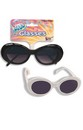 Mod Go Go Tinted Costume Glasses Adult: Black