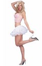 "White w/Red Ruffle Mini Crinoline Tutu 10"" Costume Adult Stnd"