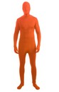 Disappearing Man Invisible Costume Jumpsuit Child: Orange