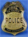 Police Costume Pin Badge