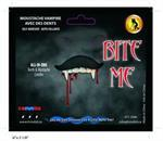 Bite Me Vampire Stache Moustache With Teeth Costume Accessory