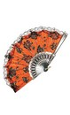 Day Of The Dead Lace Trim Costume Fan