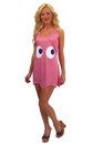 "Pac-Man ""Pinky"" Pink Deluxe Costume Tank Dress Adult/Teen Standard"