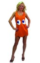 "Pac-Man ""Clyde"" Orange Deluxe Costume Tank Dress Adult/Teen Standard"