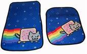 Nyan Cat Car Floor Mats Set