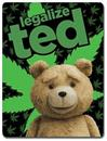 Ted 2 Legalize Ted Lightweight Fleece Throw Blanket | 45 x 60 Inches