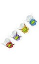 Teenage Mutant Ninja Turtles Names w/ Faces Shot Glass 4-Pack