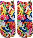 Candy Sprinkles Photo Print Ankle Socks