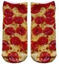 Pizza Photo Print Ankle Socks
