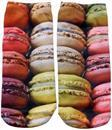 Macaroon Cookies Photo Print Ankle Socks
