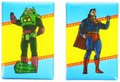DC Comics Magnet Set: Superman and Lex Luthor