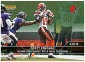 Cleveland Browns Corey Coleman 2016 Panini Instant NFL Base Card #34