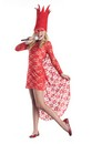 Red Lace Lady Pop Star Costume Dress Child