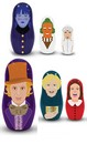 Willy Wonka 6-Piece Plastic Nesting Doll Set