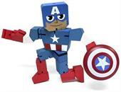 "Marvel Wood Warriors 8"" Captain America"
