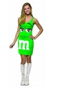 MandM Candy Green Tank Dress Costume Teen