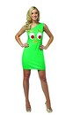 Gumby One Shoulder Tank Mini Dress Costume Adult