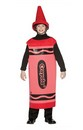 Red Crayola Crayon Child Costume Tween