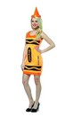 Crayola Neon Orange Tank Mini Dress Costume Adult