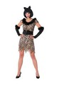 Feathered Fashion Leopard Queen Adult Coustume One Size Fits Most