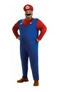 Super Mario Bros Mario Costume Adult Men Plus