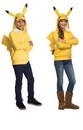 Pokemon Pikachu Yellow Hoodie Tween Costume