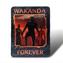 Black Panther Wakanda Forever Lightweight Fleece Throw Blanket | 45 x 60 inches