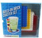 Build-On Brick 4-Piece Coaster Set