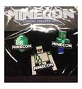 Minecraft Minecon 2015 Exclusive Pin Set of 3