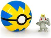 Pokemon Clip and Carry Poke Ball - Machop Figure w Quick Ball