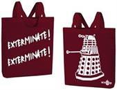 "Doctor Who Dalek ""Exterminate! Exterminate!"" Large Tote Bag"