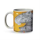 Star Wars Millennium Falcon Grid Schematics - 20oz Ceramic Mug