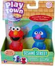 Sesame Street Play Town Learning Curve Real Wood 2pk Grover and Elmo