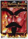 Devil Eyebrows, Moustache and Goatee Costume Accessory Set