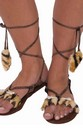 Stone Age Women's Costume Sandals One Size