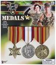 Combat Hero Army Medals Costume Accessory Set of 3